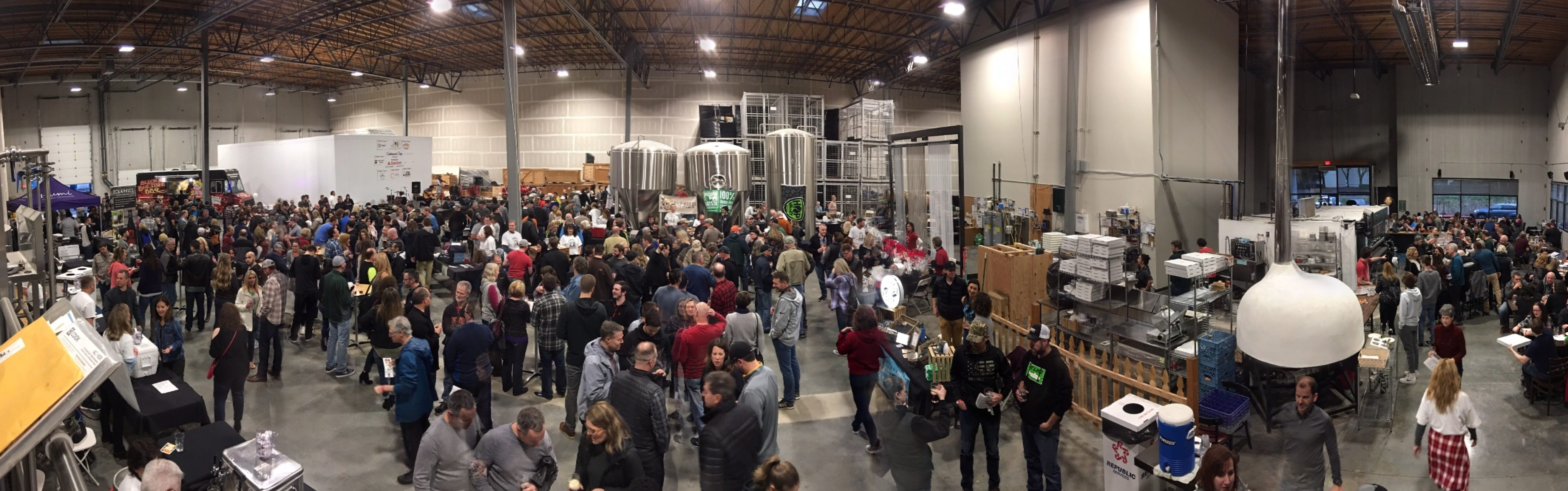Tualatin Winter BrewFest panorama photo from 2018.